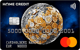 Дебетовая карта Home Credit MasterCard Gold EUR